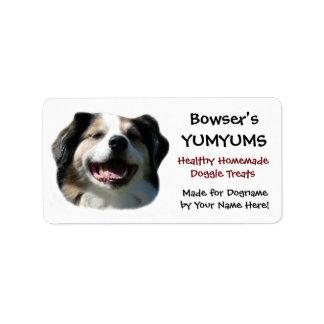 Happy Australian Shepherd custom  Dog Treats Label