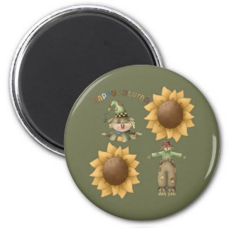 Happy Autumn 2 Inch Round Magnet