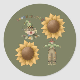 Happy Autumn Classic Round Sticker