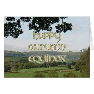Happy Autumn Equinox Card
