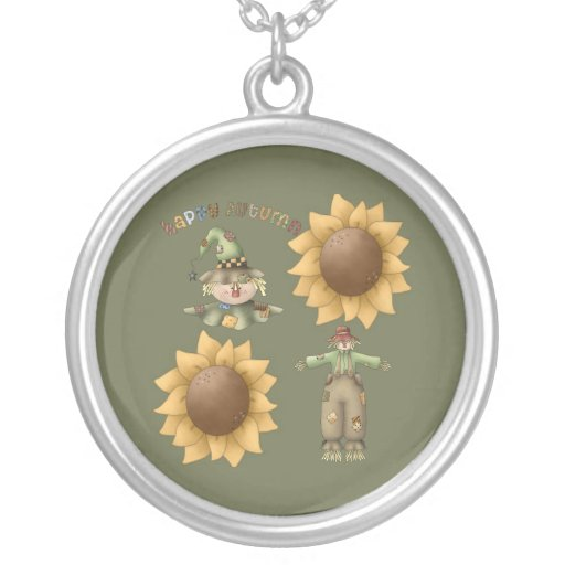 Happy Autumn Personalized Necklace