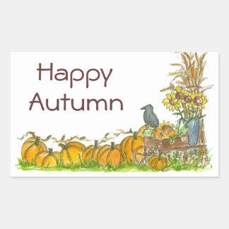Happy Autumn Stickers Pumpkin Patch Crow