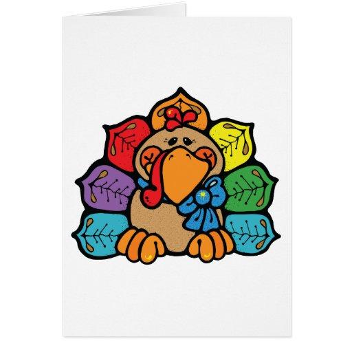 happy autumn turkey greeting cards