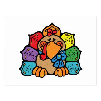 happy autumn turkey postcards