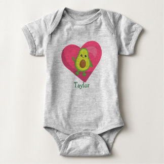 Happy Avocado Baby Bodysuit