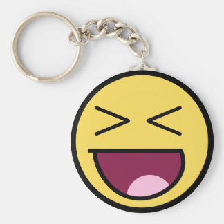 Happy Awesome Face Keychain