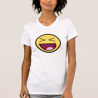 Happy Awesome Face Ladies Petite T-Shirt