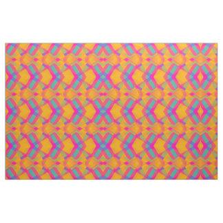 Happy Aztec Orange Pink Blue Pattern Fabric