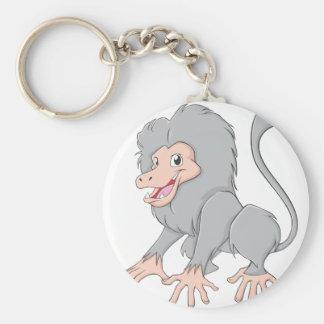 Happy Baboon Monkey Cartoon Keychain