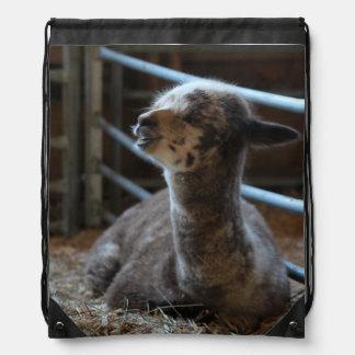 Happy Baby Alpaca Smiles Drawstring Backpack