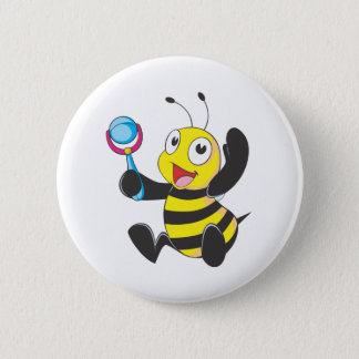 Happy Baby Bee Button