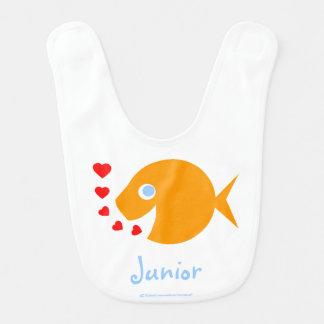 Happy Baby Boy Goldfish Custom Bib