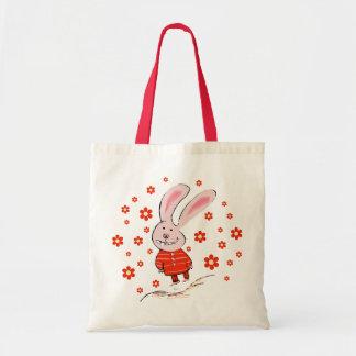 Happy Baby Bunny Tote Bag