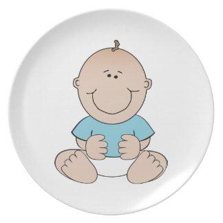 Happy baby cartoon party plates
