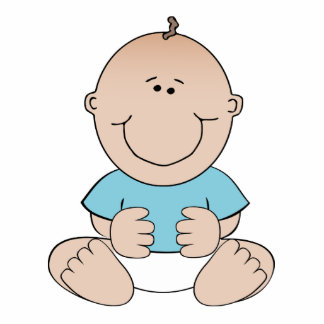 Happy baby cartoon cut out
