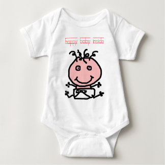 Happy baby cute smiling babies expecting pregnant baby bodysuit