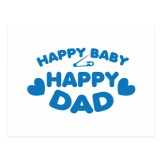 HAPPY baby Happy DADDY Postcard