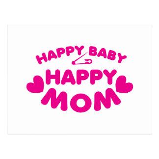 Happy baby Happy mom Postcard