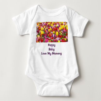 Happy Baby Love My Mommy Creeps One piece Tulips Infant Creeper