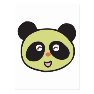happy baby panda face postcard