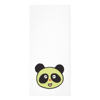 happy baby panda face rack card template