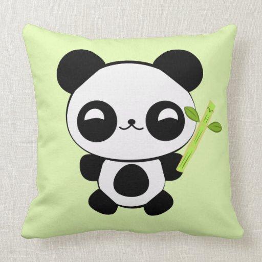 Cute Panda Pillow : Happy Baby Panda Pillow Zazzle