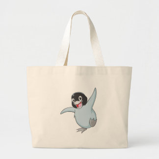 Happy Baby Penguin Large Tote Bag