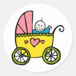 Happy Baby Round Stickers