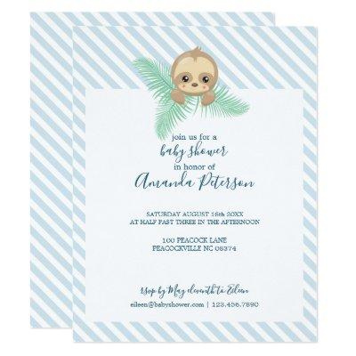 Sleepy Sloth Baby Shower Invitation Zazzle
