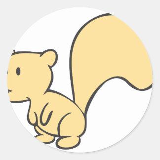 Happy Baby Squirrel Classic Round Sticker
