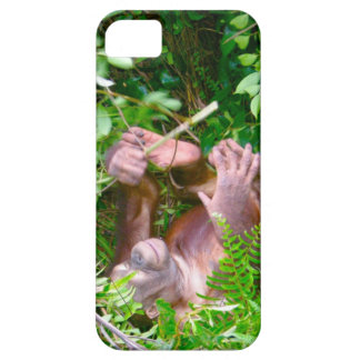 Happy Baby Yoga Pose Orangutan iPhone SE/5/5s Case