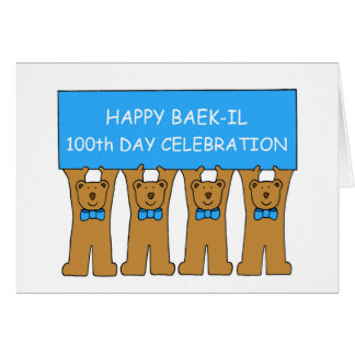 Happy Baek-il 100th Day Celebration Card