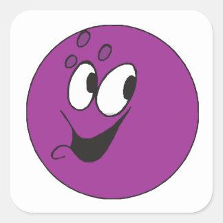 Happy Ball Square Sticker
