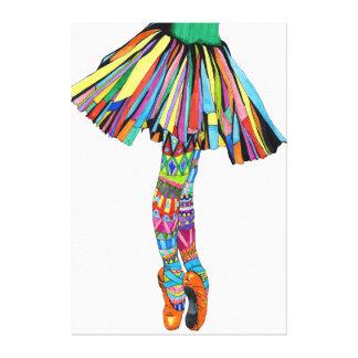 Happy Ballerina Canvas Print