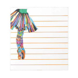 Happy Ballerina Notepad