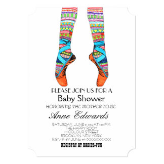 Happy ballet baby shower invitation