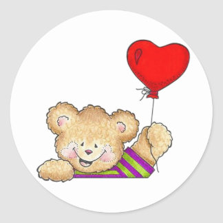 Happy Balloon Classic Round Sticker
