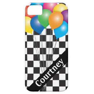 Happy Balloons Retro Eighties Checkerboard iPhone SE/5/5s Case