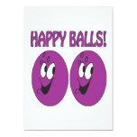 Happy Balls 5x7 Paper Invitation Card