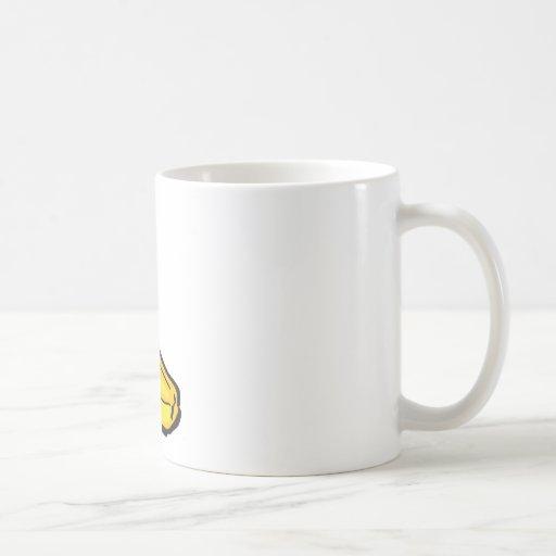 happy banana classic white coffee mug