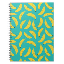 Happy Bananas Cute Fruit Pattern Notebook