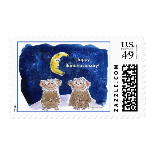 Happy Bananaversary Custom Postage
