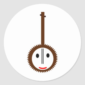 Happy Banjo Classic Round Sticker