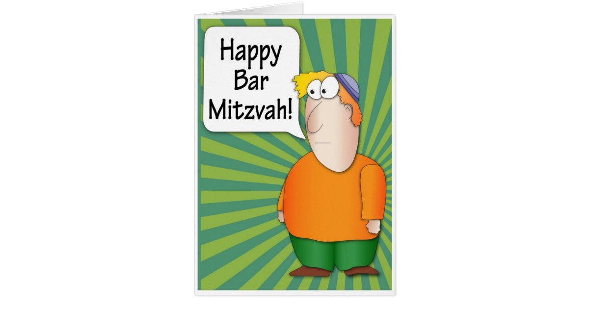 Happy Bar Mitzvah Greeting Card Funny Jewish Boy Zazzle