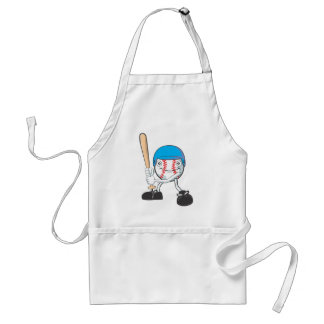 Happy Baseball Player Adult Apron