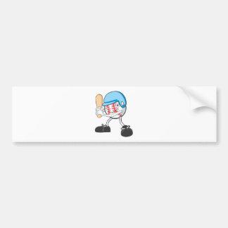 Happy Baseball Player Bumper Sticker