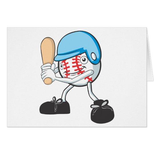 Happy Baseball Player Card