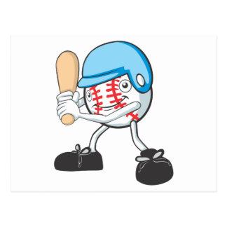 Happy Baseball Player Postcard