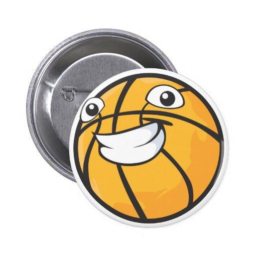 Happy Basketball 2 Inch Round Button