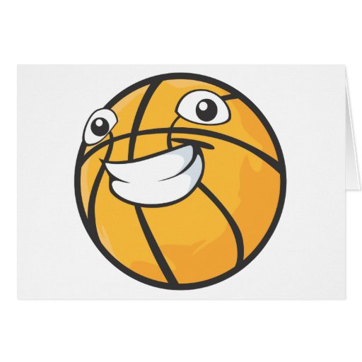 Happy Basketball Greeting Card